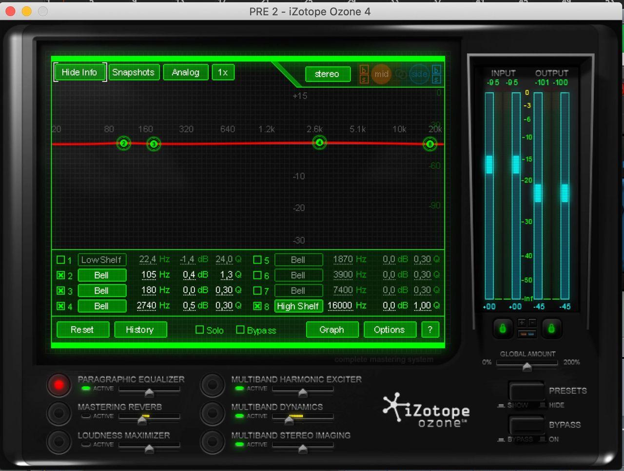 Jaycen Joshua Mix Bus Chain | Jaycen Joshua iZotope Ozone 4 Presets | Mixing and Mastering Chain